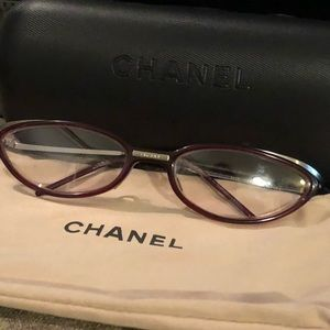 Chanel glass's w/ case and dustbag